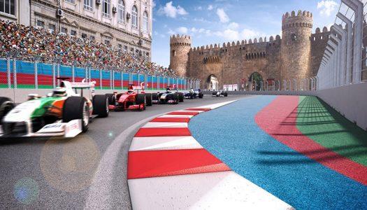 Dashing across Baku this Grand Prix