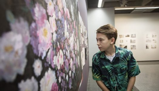 The youngest artist ever to exhibit at Åland's Art Museum