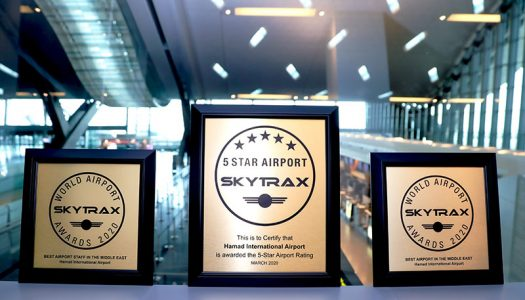 """Hamad International Airport Ranked """"Third Best Airport in the World"""" by SKYTRAX World Airport Awards 2020"""