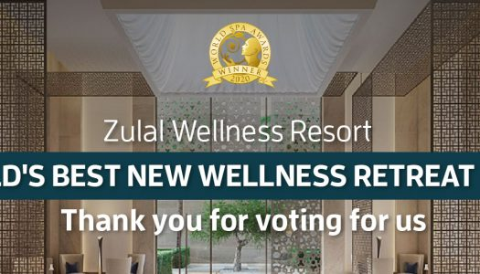 """Zulal Wellness Resort Recognized as """"World's Best New Wellness Retreat"""" for 2020 by World Spa Awards"""