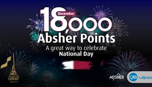 QIB Grants 18,000 Absher Rewards Points to Commemorate Qatar National Day